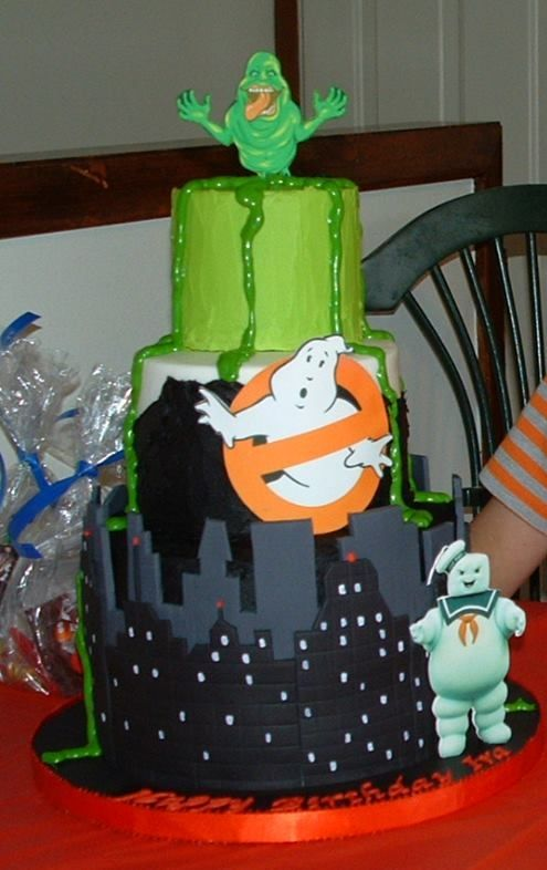 Ghostbusters cake  Birthday ideas  Pinterest