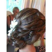 bridal side bun with veil