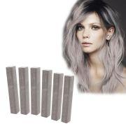 ash gray hair dye set cloudy