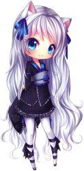 anime transparent chibi neko mini wolf kawaii cute