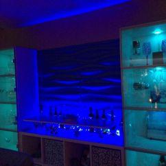 Kitchen Cabinet Inserts Rehab Led Up Lighting 3d Wall Panels Ikea Kallax Bar Hack | My ...