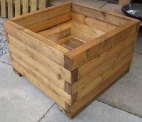 25+ best ideas about Wooden Planters on Pinterest