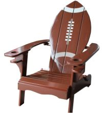Football Shaped Adirondack Chair from www