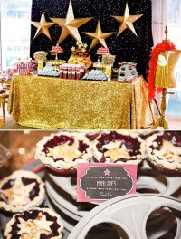 A Star is Born, baby shower, HWTM, glitzy sweets display ...