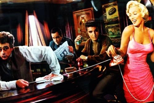 Chillin In The Car Wallpaper James Dean Elvis Presley And Dean O Gorman On Pinterest