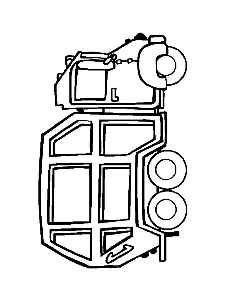 Garbage Truck Coloring Page (printable), Mike loved