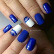 ideas blue gel nails