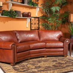 Brown Leather Sofa Recliner Modern Red Design Conversation Couch | Houston Brooke Kingsbury ...