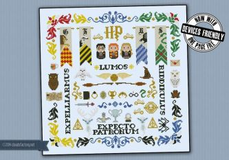 Harry Potter pillow sampler - Cross Stitch Patterns - Products:
