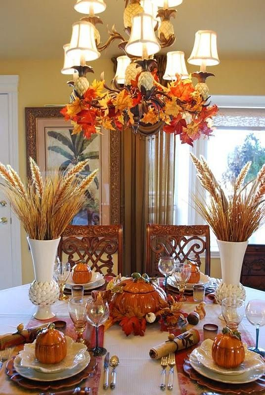 Thanksgiving – always do my chandelier for Christmas but never even thought abou