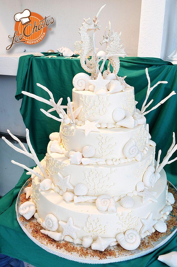 Pastel Boda PlayaBeach Wedding Cake Loschatos