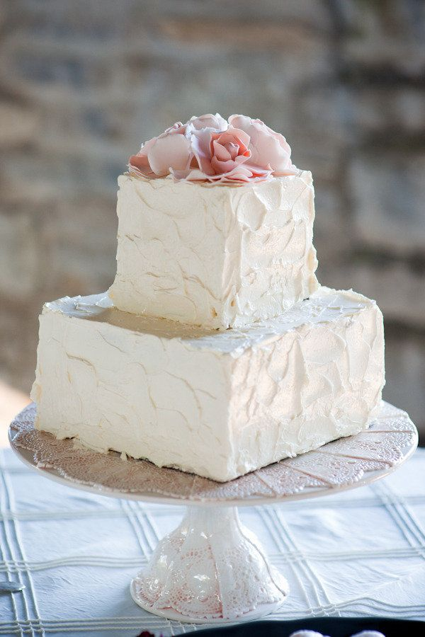 Simple buttercream wedding cake  My Wedding  Pinterest  Different shapes Wedding and