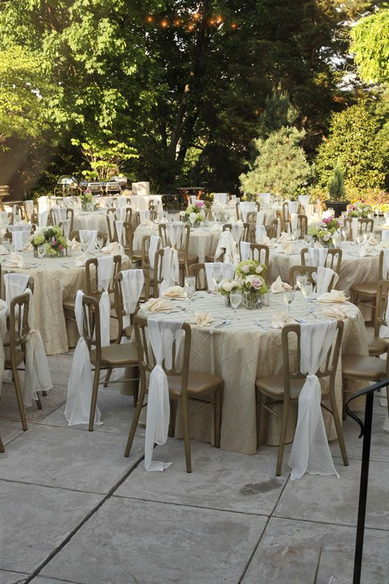 This reception has a beautiful neutral color palette with