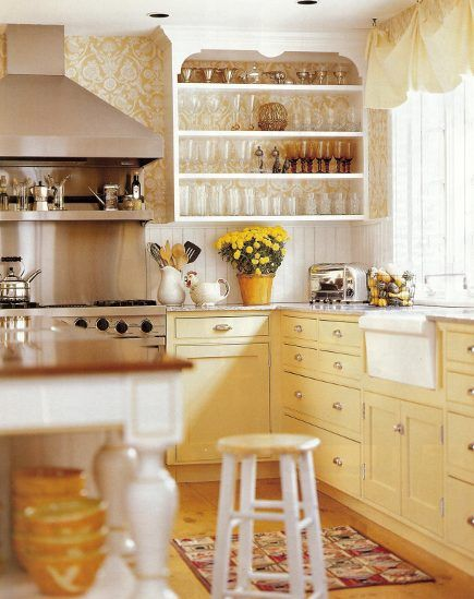 25+ best ideas about Yellow Kitchen Cabinets on Pinterest
