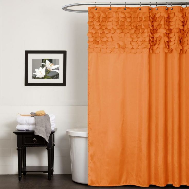 The 25 Best Ideas About Orange Shower Curtains On Pinterest