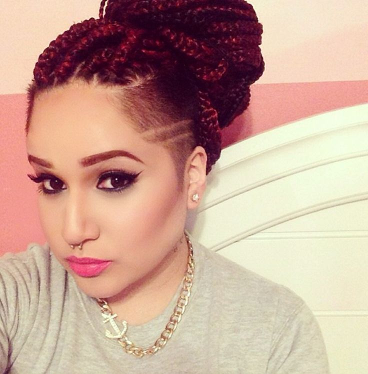 25 Best Ideas About Braids With Shaved Sides On Pinterest