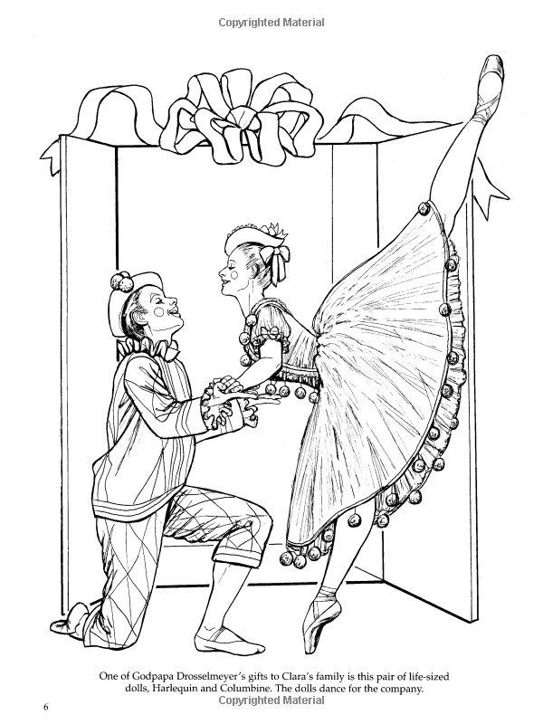 Nutcracker Ballet Coloring Book (Dover Holiday Coloring