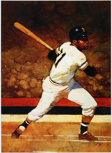 Baseball art Oil on canvas and Baseball on Pinterest
