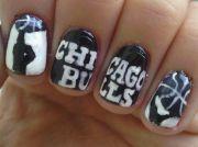chicago bulls nails cute nail