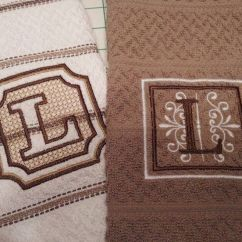 Monogrammed Kitchen Towels Cabinets Lowes 17 Best Images About Embossed Embroidery On Pinterest