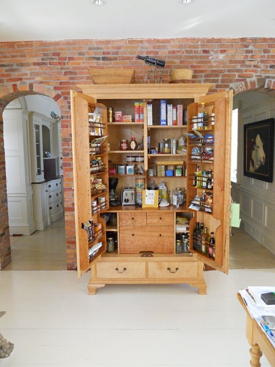 TURN AN OLD ARMOIRE INTO KITCHEN CABINET SPACE