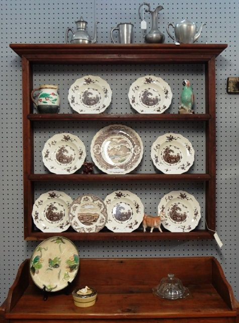 kitchen appliance shelf cabinets update ideas on a budget cherry plate rack wall | for the house ...