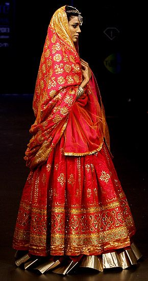 #red #lehenga Minus the gold border.