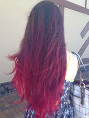 red ombre hair end of summer