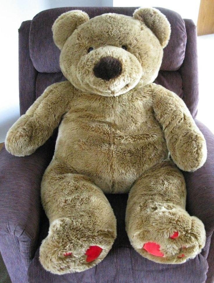 Walmart Jumbo Teddy Bear Plush 45 Life Size Huge Tan