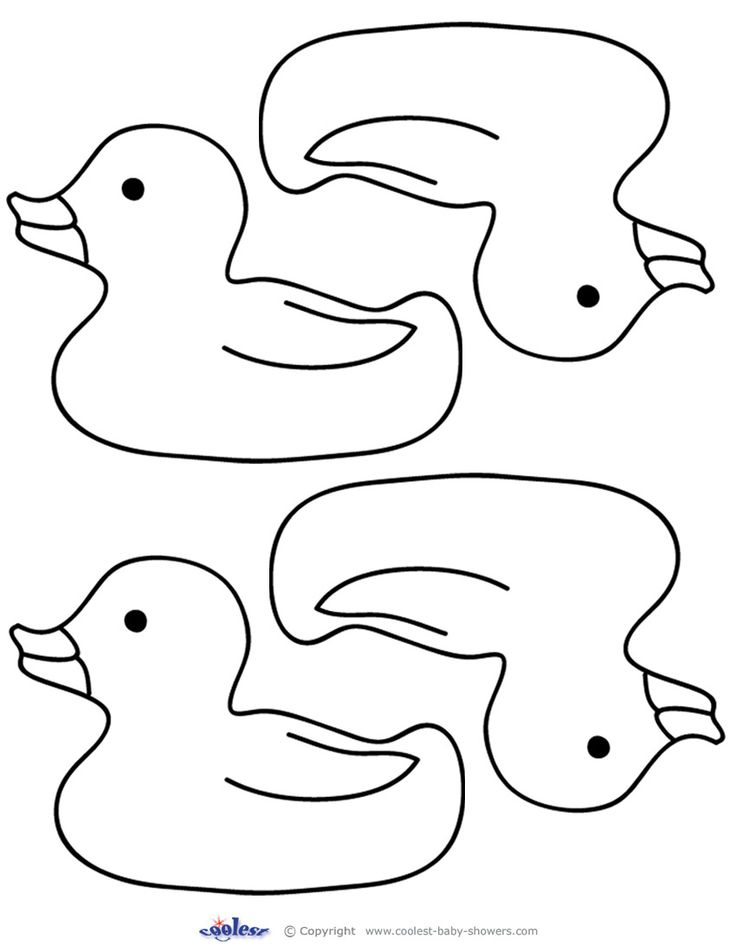 Blank Printable Rubber Ducky 2 Thank You Cards Coolest