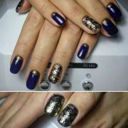 ideas dark blue nails