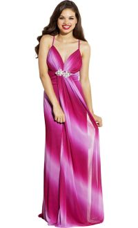 Ombre Glitter 70s Prom Dress