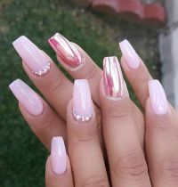 17 Best ideas about Metallic Nails on Pinterest