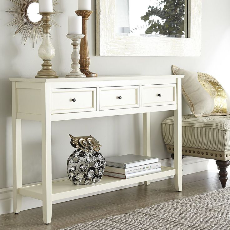 grey painted chairs pillow chair for kids antique white console table   smooth, classic and tables