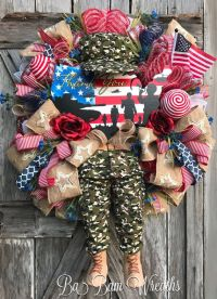 17 Best ideas about Military Wreath on Pinterest   Camo ...