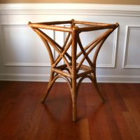 Faux Bamboo Table Base Rattan Cane Bentwood Bohemian Home ...