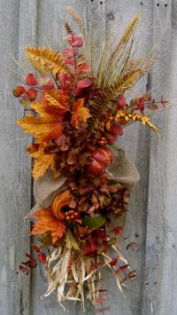 17 Best ideas about Fall Swags on Pinterest | Fall wreaths ...