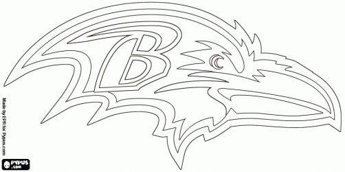 Baltimore Ravens logo, american football team in the North