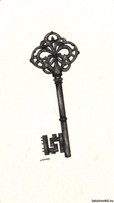 25+ best ideas about Skeleton key tattoos on Pinterest
