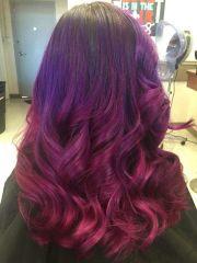 purple pink magenta ombre
