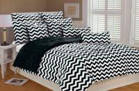 Black and white chevron bedding   WhereIBuyIt.com   house ...