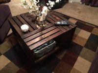 Coffee table made from Apple crates!! | Crafts for My ...