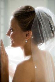 wedding veil placement - bing