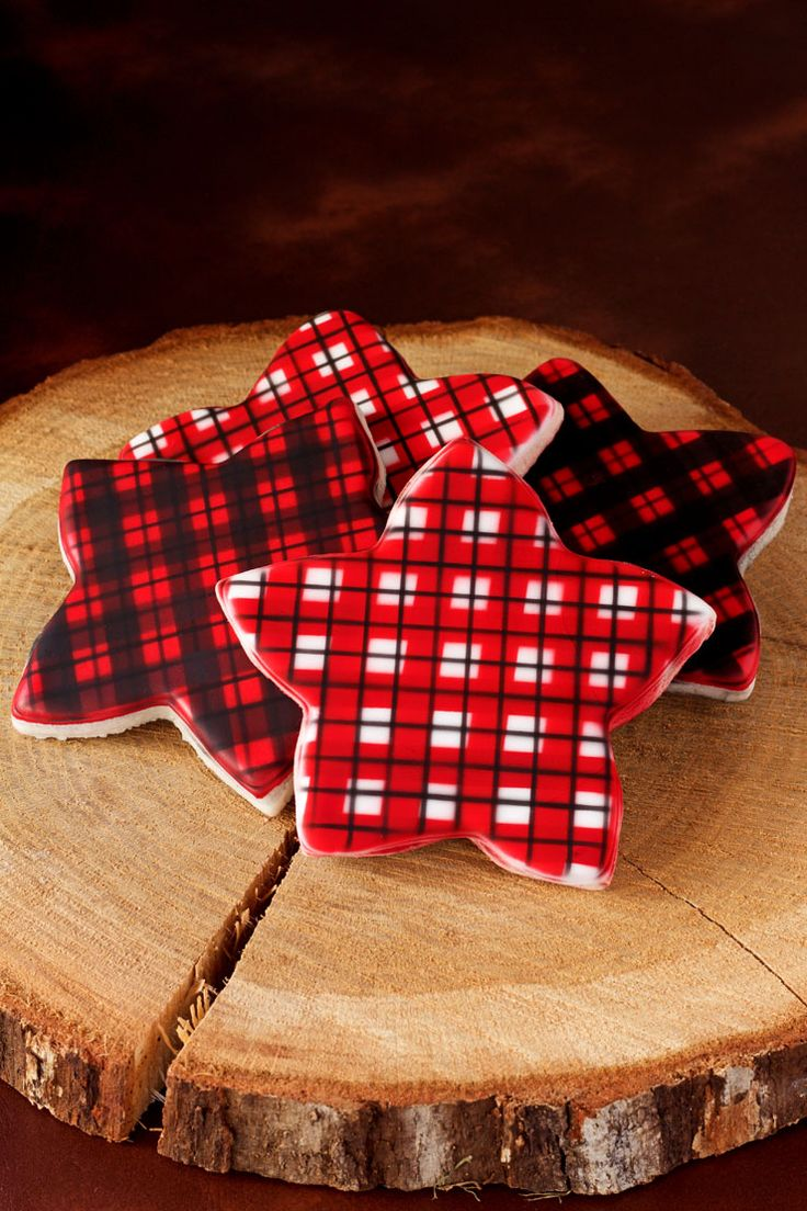 How to Airbrush Plaid Cookies  Colors One color and Design