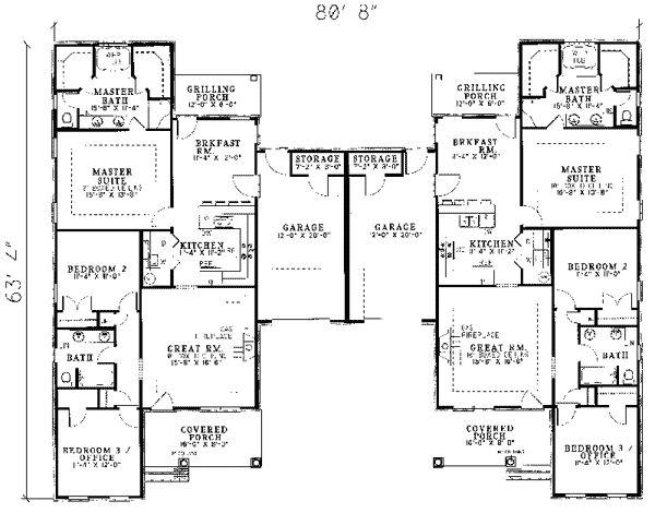 Best 25+ Duplex House Plans Ideas On Pinterest