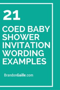 21 Coed Baby Shower Invitation Wording Examples ...