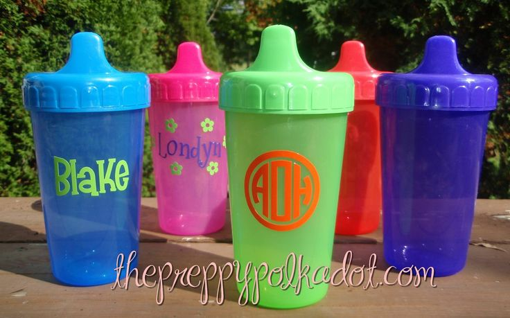 monogrammed sippy cup