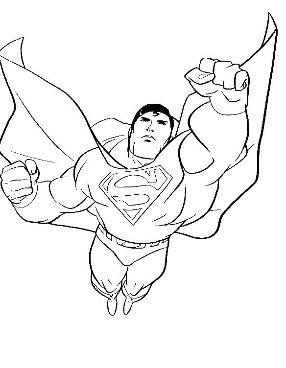 Superman Flying Coloring Coloring Pages