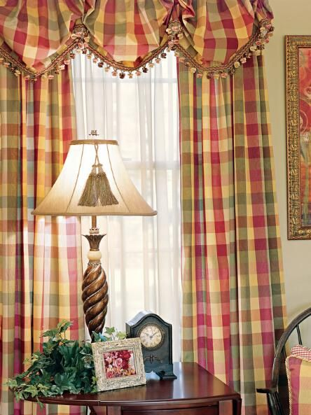 elegant kitchen curtains valances small renovations plaid curtains, curtain - country ...