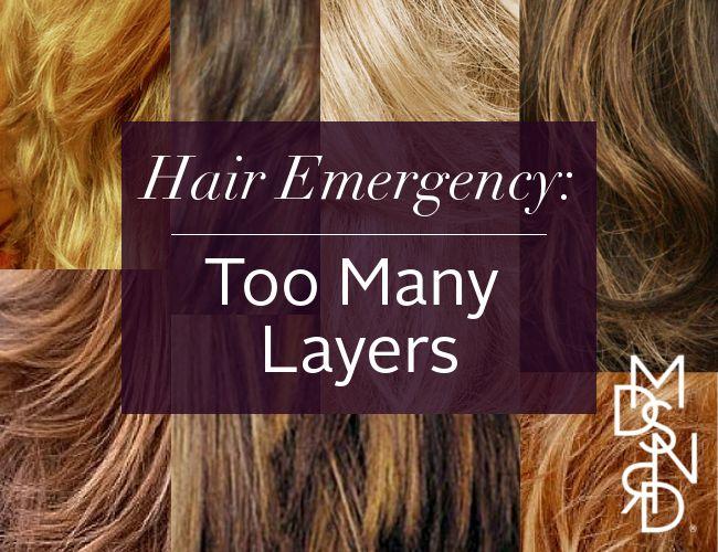 Hair Emergency Too Many Layers #madisonreed #affiliate